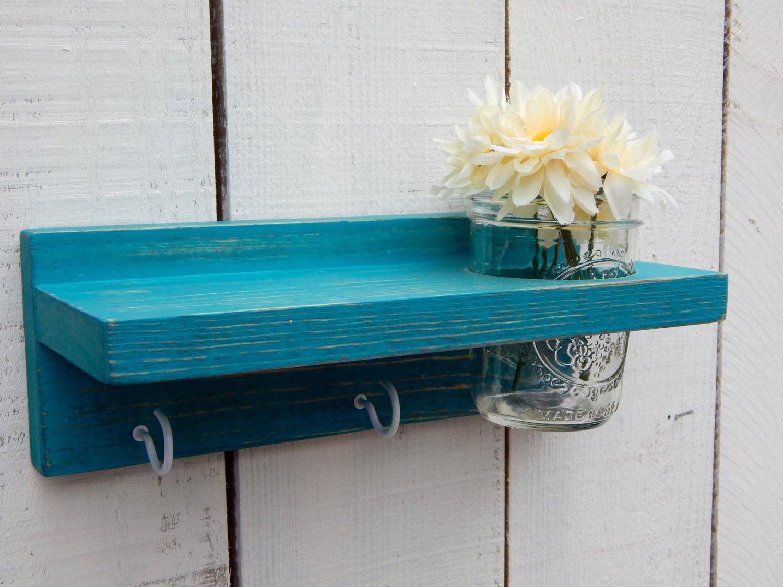 distressed wood keyholder shelf home decor shabby chic