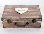 Wedding Card Box Wooden Card Box Rustic Keepsake Box Wedding Card Holder Personalized Card Box Custom Card Box Memory box Wedding cards