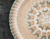 RESERVED Wicker baskets Woven plates Pie serving Rustic home decor Eco friendly gift Ethnic wall decor Rustic table decor Woven basket