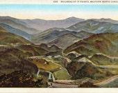 North Carolina, 17 Points, Railroads - Linen Postcard - Unused (X)