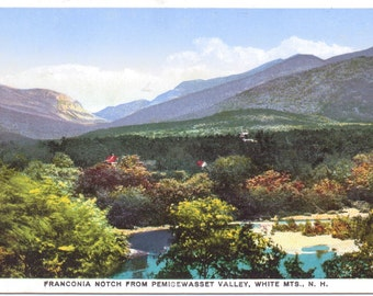 Franconia Notch, Pemigewasset Valley, White Mountains, New Hampshire - Vintage Postcard - Unused (U)