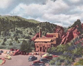 Pikes Peak, Colorado, Hidden Inn, Garden of the Gods - Linen Postcard - Unused (OO)