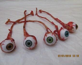 Human eyeball horror prop