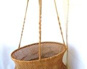 Huge Island Hanging Patio Basket , Baby Jute Basket , Storage