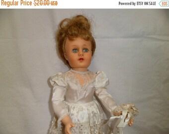Valentine SALE Mid century Fashion Doll Bridal 18 inch Bridal