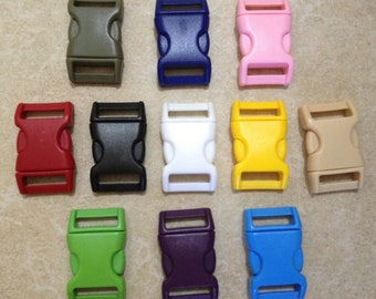 "20pc 13/16"" (20mm) Side-release Plastic Buckles Eco-Friendly"