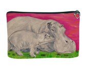 Hippos Cosmetic Bag by Salvador Kitti - From My Orginal Oil Painting