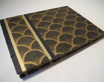 Reserved for Maryelaine: Large Art Deco Wedding Guest Book w/ lined pages and custom front page