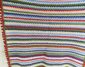 Stunning Cath Kidston Crochet Blanket - cot or lap size  - 78 x 120cm