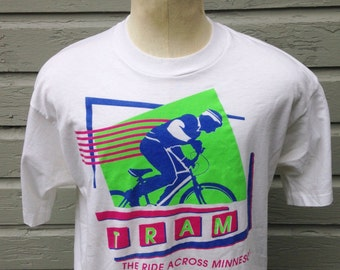 Late 80's, early 90's Ride Across Minnesota t-shirt, fits like a large