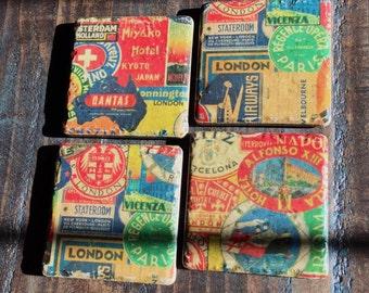 Rustic Travel Coasters