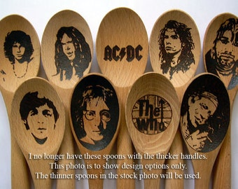 Famous Wooden Spoons Christmas Gifts Under 25 John Lennon Paul McCartney The Who Steven Tyler AC/DC Keith Richards Mick Jagger Jimi Hendrix