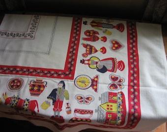 Cotton Folklore Square Tablecloth