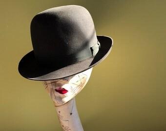 Failsworth 1960s Olive Green Bowler Hat