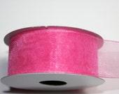 """1 1/2"""" Organza Ribbon - Hot Pink - 25 yard Spool"""