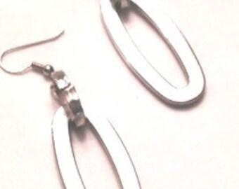 Earrings, Large Chunky Silver Earrings, Silver Metal Jewerly,Silver Metal Earrings,Metal Jewelry,Metal Earrings,Chunky Jewelry by Cindydidit