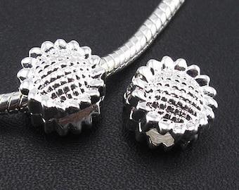Stopper or Clip Beads- Sun Flower