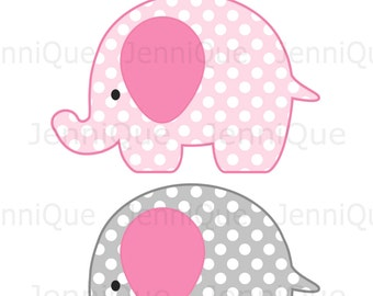 Elephant cut out etsy for Baby shower decoration cutouts