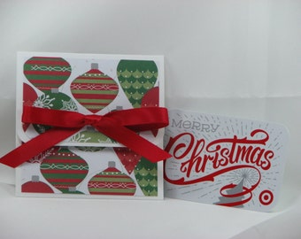 Tree Ornaments Merry Christmas Gift Card Holder
