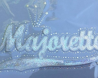 Majorette Sequins and Rhinestone Transfer Applique ONLY