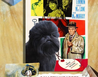 Affenpinscher Vintage Poster Canvas Print  - The Apartment Movie Poster NEW Collection by Nobility Dogs