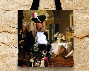 Dog Tote Bag - Dachshund Tote Bag - Dachshund Art - Dachshund Gifts - Dachshund NEW Collection by Nobility Dogs