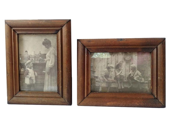 rustic wood picture frames 5x7 pair r hendrickson framed. Black Bedroom Furniture Sets. Home Design Ideas