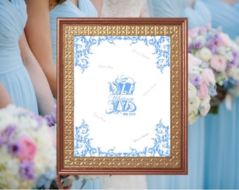 Monogram Wedding Guest Book Alternative - Rustic Wedding Sign - Wedding Sign - Ready to Hang