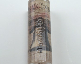 We the people Liberty Bell on pre brass tubed sierra or bolt action pen blanks