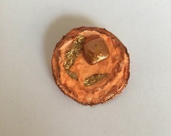Orange Moon Pin