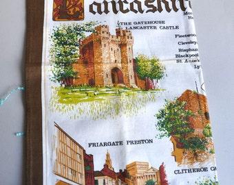 SALE! Lancashire England Tea Towel - NOS