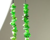 "Russian Emerald-Green Chrome Diopside Mini Chips - 12cm (4.7"") Strand Length - B4436"