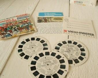 5 vintage ViewMaster stereo reels GAF Revolutionary War Bicentennial USA 1970s- free shipping US