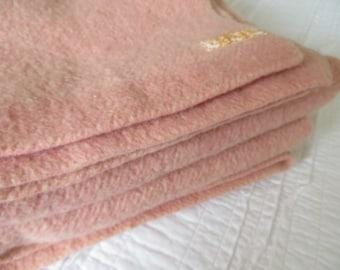 Vintage Blanket Wool Blanket Mauve Blanket Wool Blanket Winter Blanket Pendleton Wool Blanket Pink Blanket