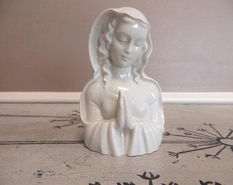 Mary Figurine Lady Madonna Catholic Figurine Metzler & Ortloff Germany Mother Mary Religious Relic