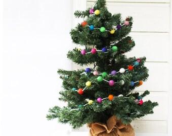 Felt christmas tree garland | Etsy