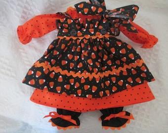 Handmade 18''-20'' Fall Raggedy Ann Dress