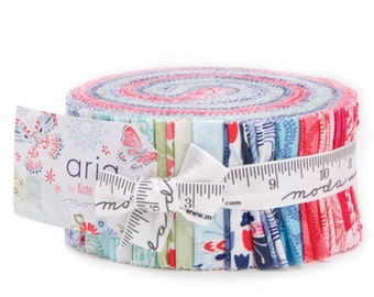 Sale Aria cotton precuts jelly roll by Kate Spain for Moda fabrics