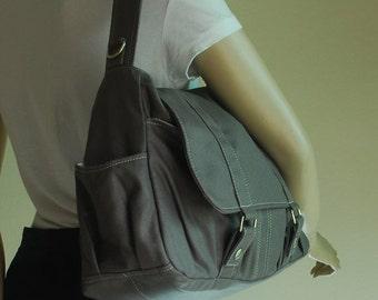 Halloween SALE - 30% Pico2 in Wax Grey Purse / Laptop / Shoulder Bag / Messenger Bag / Handbag /Wallet /  Diaper Bag/ School Bag/ Women /For