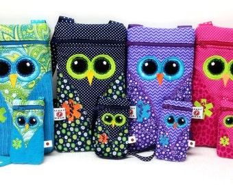 EpiPen Case, Asthma Case, Owl Medicine Pack / Epi-Pen Case / Diastat Case / Asthma Case / Purse with Matching Doll Case