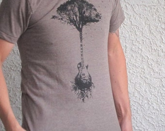 Guitar Tree Mens T Shirt - Mens Tshirt - Tree of Life