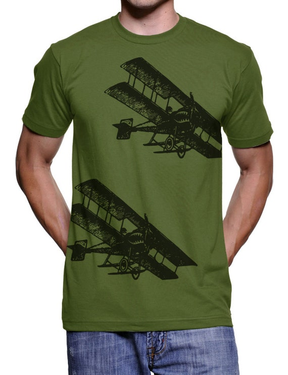 Vintage Fighter Planes T Shirt - American Apparel Tshirt - XS S M L Xl and Xxl (Color Options)