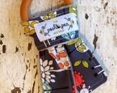 Organic Natural Wood Ring Teether - Giraffe Garden - Bunny Ear Teether - Montessori Inspired