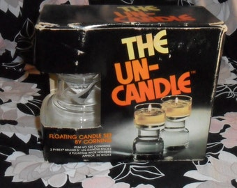 Vintage The Un-Candle Set by Corning 1970's