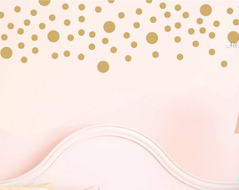 Gold Dots Decals Set Dots Wall Stickers Dots Decor Baby Girl Nursery Decal Baby Boy Nursery Decals Nursery Vinyl Dots Wall Dots