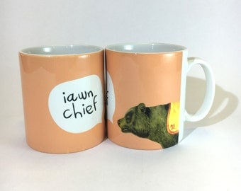 New Mug Iawn  Chief Welsh Ok Mate Peach Ceramic Mug 11oz