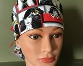 Ponytail scrub cap with wonder woman
