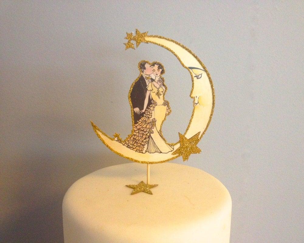 Wedding Cake Topper Art Deco Wedding Vintage Featured in