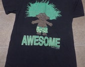 Vintage 1990's AWESOME Treasure Troll T-Shirt Soft Thin Black 90's Hipster