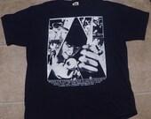 Vintage 1990's A Clockwork Orange Movie Tee T-Shirt 90s Black Stanley Kubrick